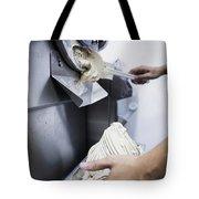 Making Gelato Ice Cream With Modern Machine Tote Bag