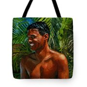 Making Nohea Laugh Tote Bag