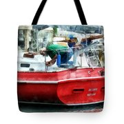 Making The Boat Shipshape Tote Bag