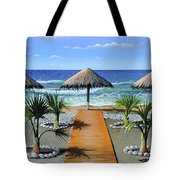 Makry Gialos Beach Tote Bag