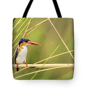 Malachite Kingfisher On Watch Tote Bag