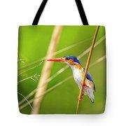 Malachite Kingfisher On The Hunt Tote Bag
