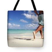 Male Beach Runner Tote Bag by Brandon Tabiolo - Printscapes