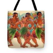 Male Dancers Of Lifuka, Tonga Tote Bag