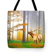 Male Elk Bugling Tote Bag