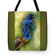 Male Fairy Bluebird Tote Bag