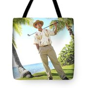 Male Golfer Tote Bag by Brandon Tabiolo - Printscapes