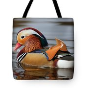 Male Mandarin Duck Tote Bag