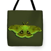 Male Moth Green And Yellow .png Tote Bag