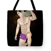 Male Nude Art Comics  Aquarius Tote Bag