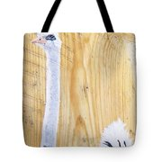 Male Ostrich On Wood Tote Bag
