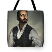 Male Portrait Tote Bag
