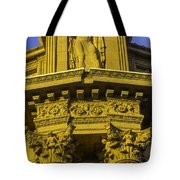 Male Statue Palace Of Fine Arts Tote Bag