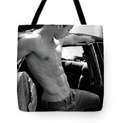 Male  Thinking Tote Bag