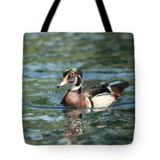 Male Wood Duck Tote Bag