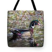 Male Wood Duck Tote Bag