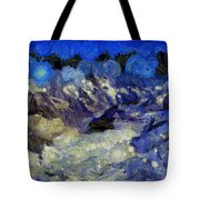 Malestorm In The Snow Tote Bag