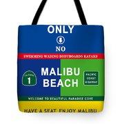 Malibu Beach California Surf Tote Bag
