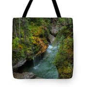 Maligne Canyon Falls Jasper National Park Tote Bag