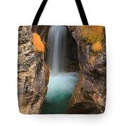 Maligne Canyon Vertical Panorama Tote Bag