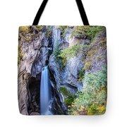 Maligne Canyon Waterfall Tote Bag