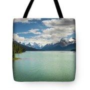 Maligne Lake In Jasper National Park Tote Bag