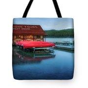 Maligne Tours Boat House Tote Bag