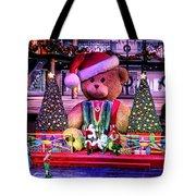 Mall Santa With Child Tote Bag