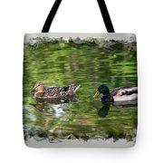 Mallard Couple On A Pond Tote Bag
