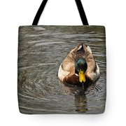 Mallard Duck Drake With Water Droplets On Bill Tote Bag