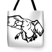 Mallard Duck Graphic Tote Bag