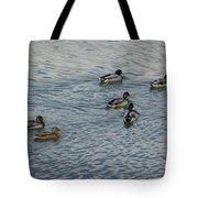 Mallard Ducks In Pond 2 Tote Bag