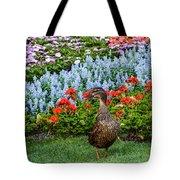 Mallard In The Garden Tote Bag