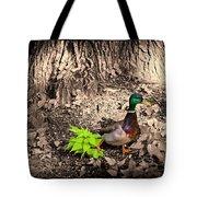 Mallard On The Run Tote Bag