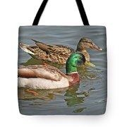 Mallard Pair Swimming, Waterfowl, Ducks Tote Bag