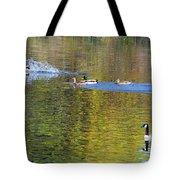 Mallard Splash Landing Tote Bag