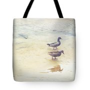 Mallards At The Chattahoochee River Tote Bag