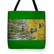 Mallards On Golden Pond 3 Tote Bag