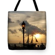 Mallory Square Key West Tote Bag