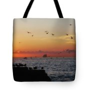 Mallory Square Sunset Tote Bag