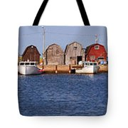 Malpeque Harbour Panorama Tote Bag