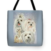 Maltese Collage Tote Bag