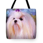 Maltese Portrait - Square Tote Bag