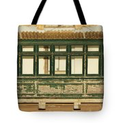 Maltese Wooden Enclosed Balcony And Windows Tote Bag