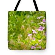Malva And Chamomile In The Meadow Tote Bag