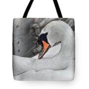 Mama Swan At Abbotsbury - Desaturated Tote Bag