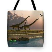 Mamenchisaurus Dinosaur Morning Tote Bag
