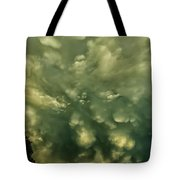 Mammatus Clouds And Double Rainbow Tote Bag