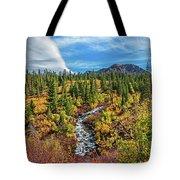 Mammoth Lakes Autumn Falls Tote Bag