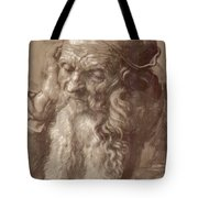Man Aged 93 Brush Ink On Paper 1521 Tote Bag